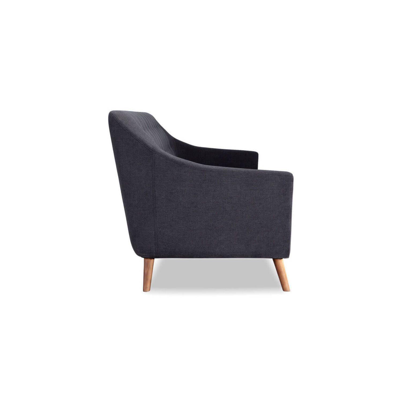 Дизайнерский прямой серый диван Cameron, в стиле классический модерн