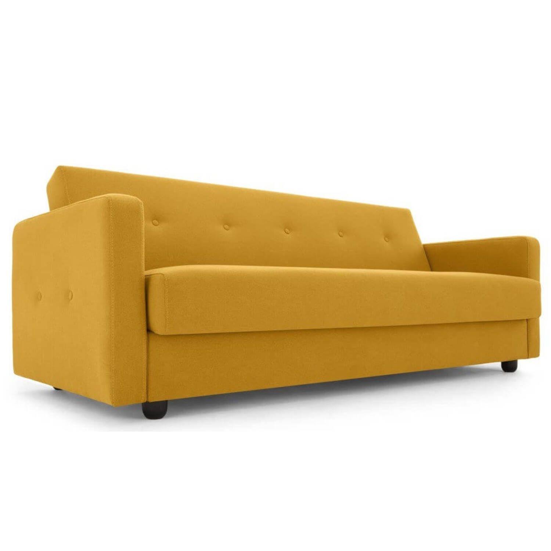 """Диван-кровать Chou с механизмом """"клик-кляк"""", желтый"""