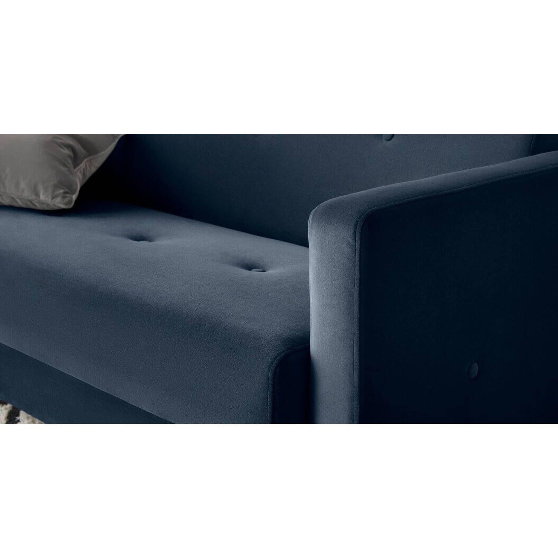 """Диван-кровать Chou с механизмом """"клик-кляк"""", синий"""