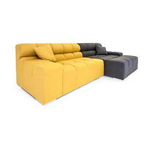 Диван Cubix, желтый-темно-серый