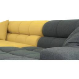 Желтый-темно-серый модульный диван Cubix, в стиле современный модерн.