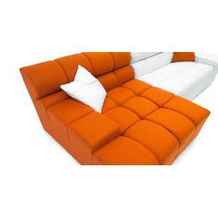 Диван Cubix, оранжево-белый