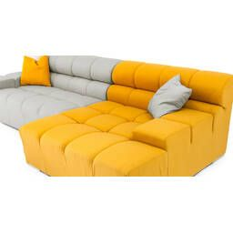 Серо-желтый модульный диван Cubix, в стиле современный модерн.