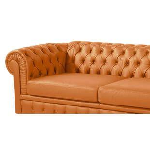 Диван Chesterfield, оранжевый