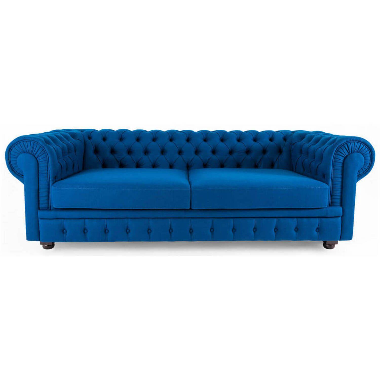Диван Chesterfield, синий