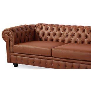 Диван Chesterfield, светло-коричневый