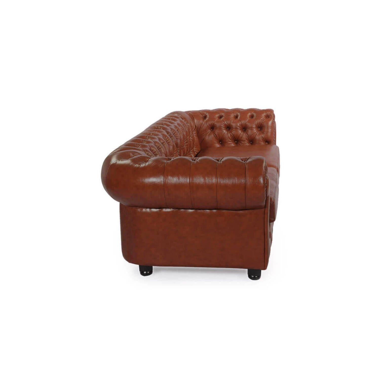 Терракотовый диван Chesterfield, в английском классическом стиле
