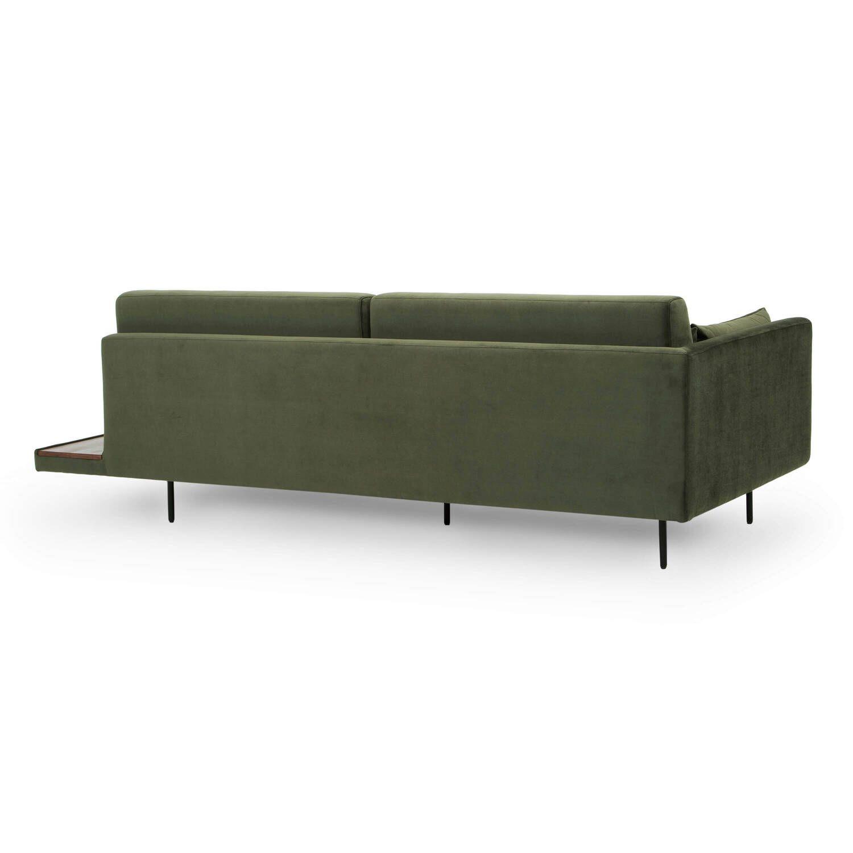 Кушетка Davenport, зеленая, в современном стиле модерн