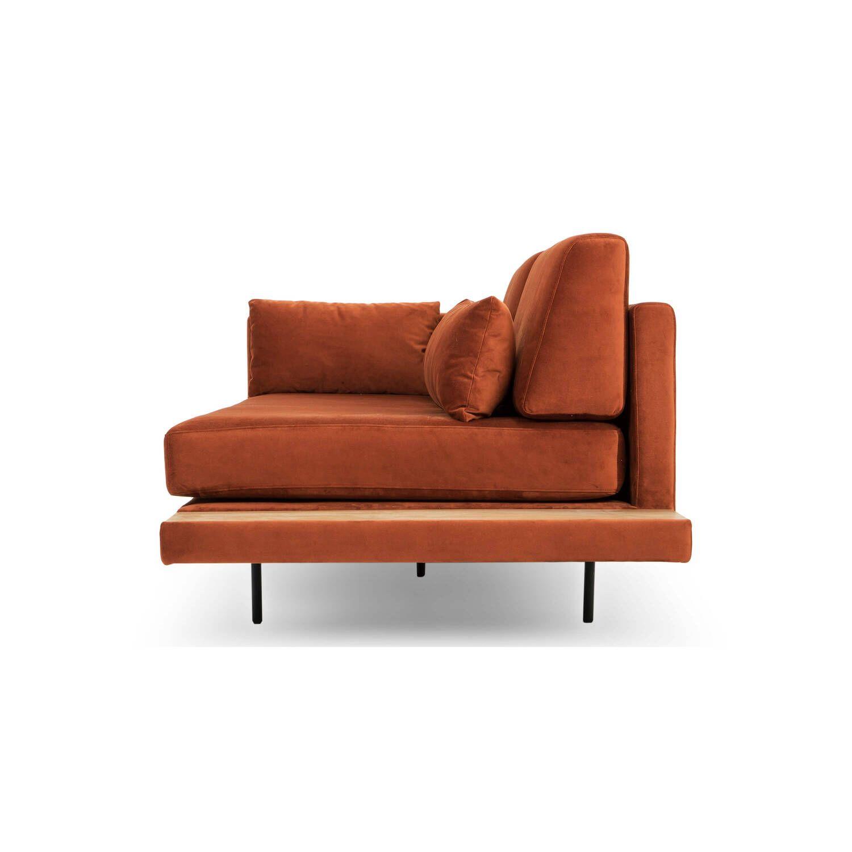 Кушетка Davenport, оранжевая