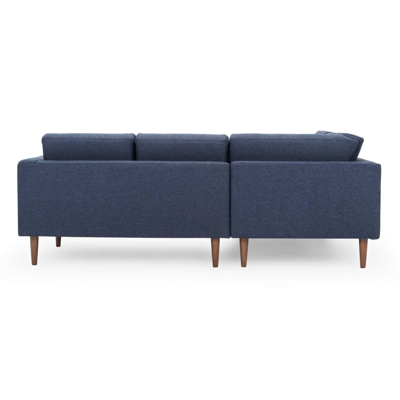 Диван Dominique в скандинавском стиле, угловой, синий