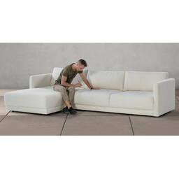 Диван Domus в современном стиле, угловой, белый