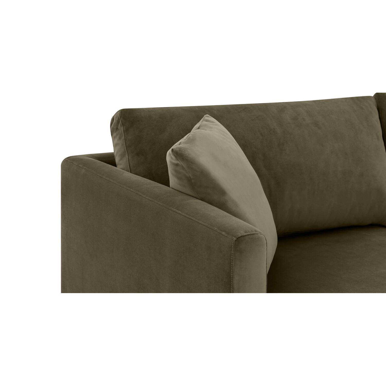 Диван Domus в современном стиле, угловой, зеленый