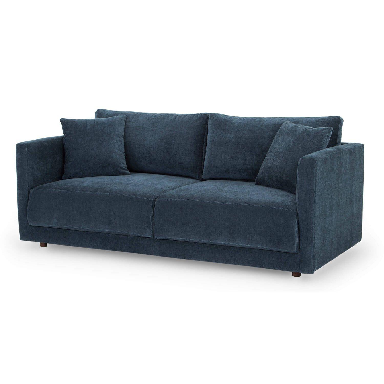 Диван Domus в современном стиле, прямой, синий