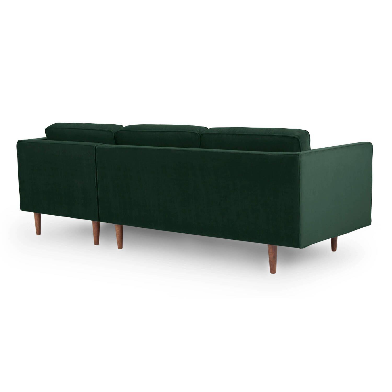 Диван Dwell в современном стиле, угловой, зеленый