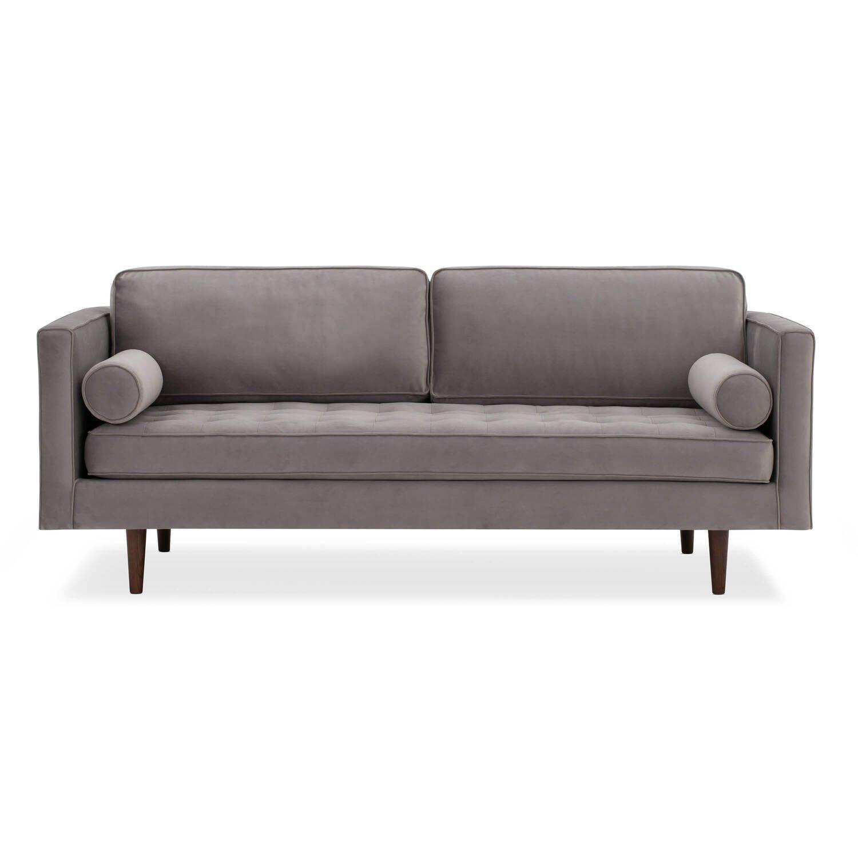 Диван Dwell в современном стиле, прямой, серый