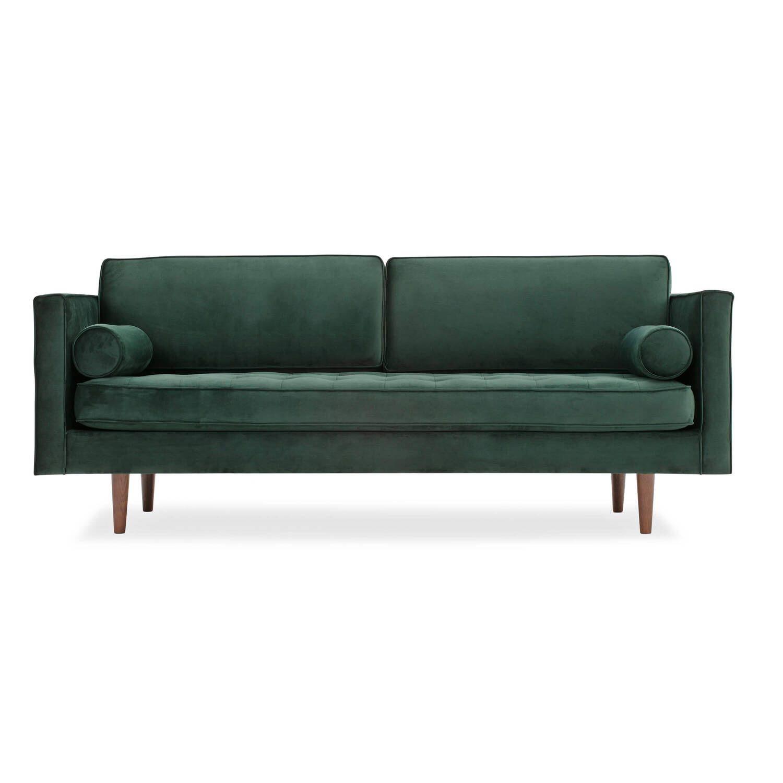 Диван Dwell в современном стиле, прямой, зеленый