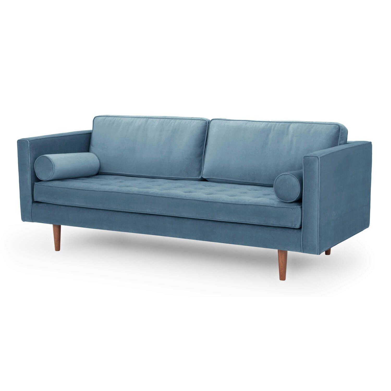 Диван Dwell в современном стиле, прямой, синий
