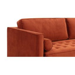 Диван Dwell в современном стиле, прямой, оранжевый
