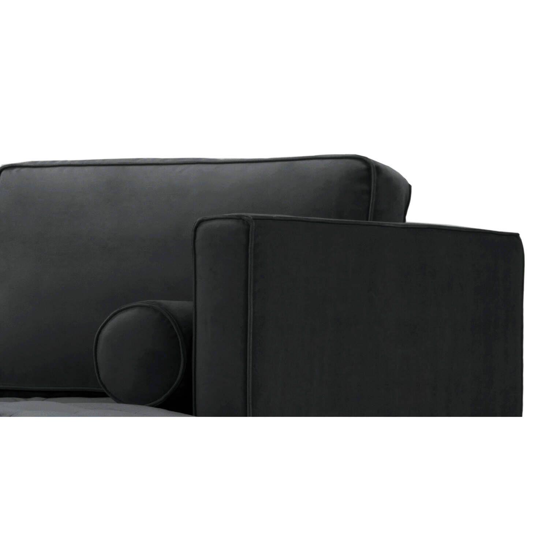 Диван Dwell в современном стиле, угловой, темно-серый