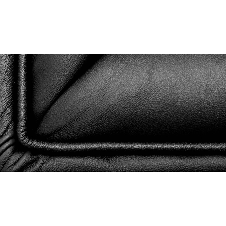 Дизайнерский кожаный черный диван Edward, в стиле лофт/модерн