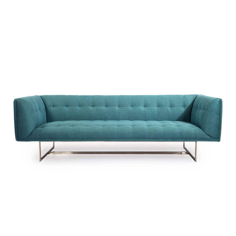 Дизайнерский голубой диван Edward, в стиле лофт/модерн