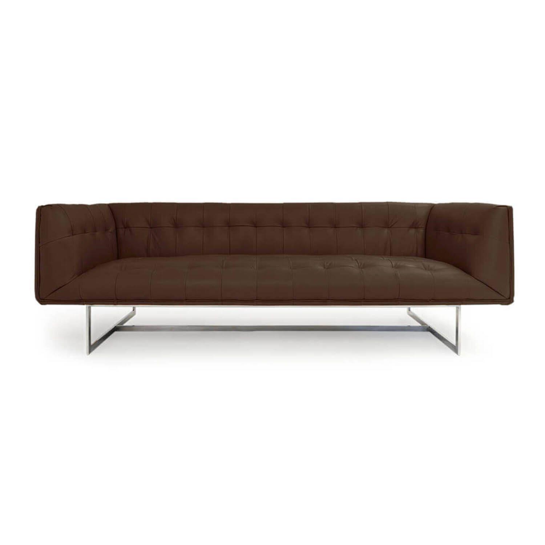 Дизайнерский коричневый диван Edward, в стиле лофт/модерн