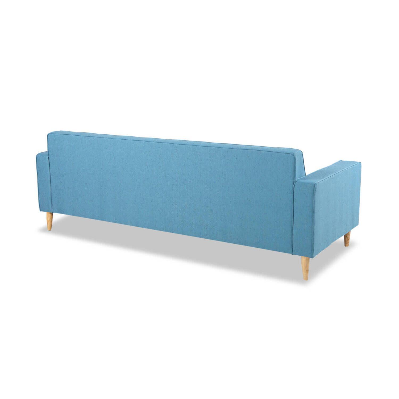 Дизайнерский прямой голубой диван Eleanor, в стиле классический модерн