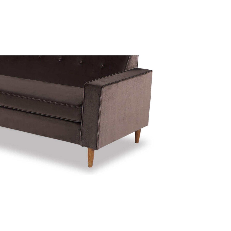 Дизайнерский прямой коричневый диван Eleanor, в стиле классический модерн