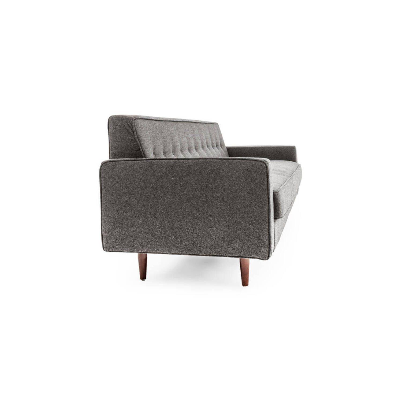 Дизайнерский прямой светло-серый диван Eleanor, в стиле классический модерн