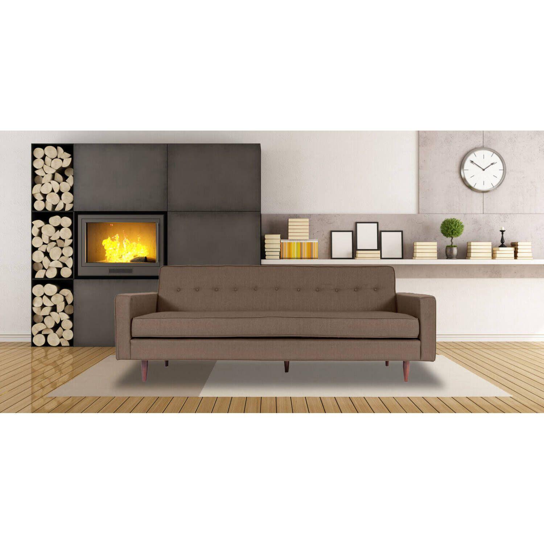 Дизайнерский прямой светло-коричневый диван Eleanor, в стиле классический модерн