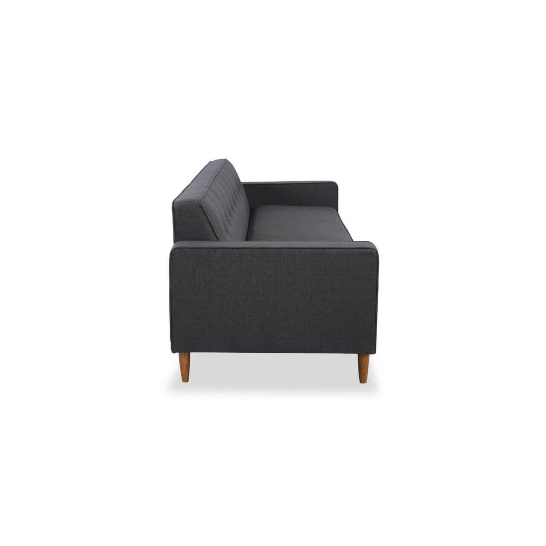 Дизайнерский прямой серый диван Eleanor, в стиле классический модерн