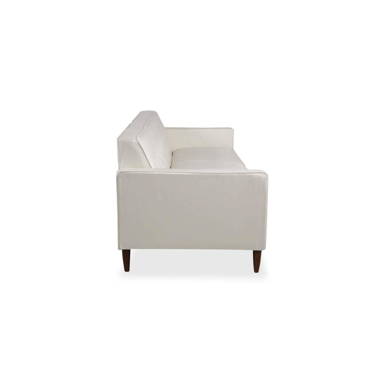 Дизайнерский прямой белый кожаный диван Eleanor, в стиле классический модерн, натуральная кожа.