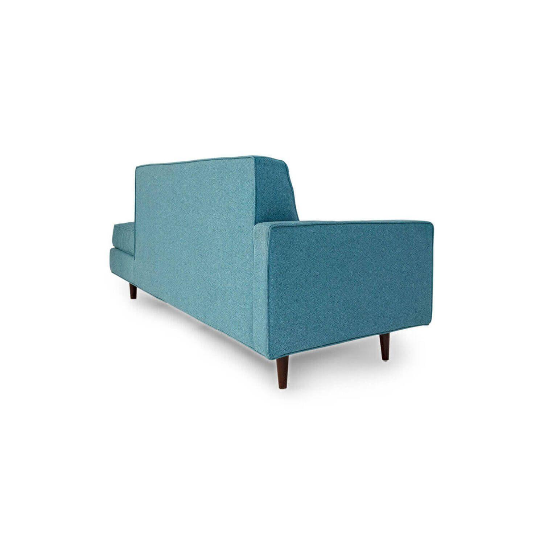 Прямой бирюзовый диван тахта Eleanor.