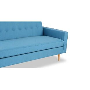 Прямой диван тахта Eleanor, голубой