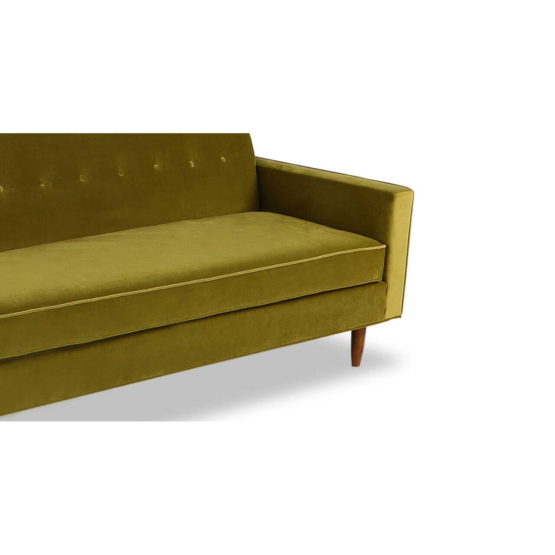 Прямой диван тахта Eleanor, оливковый купить