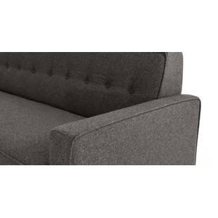 Прямой диван тахта Eleanor, серая шерсть