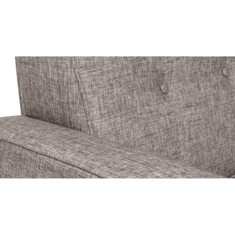 Прямой диван тахта Eleanor, серый