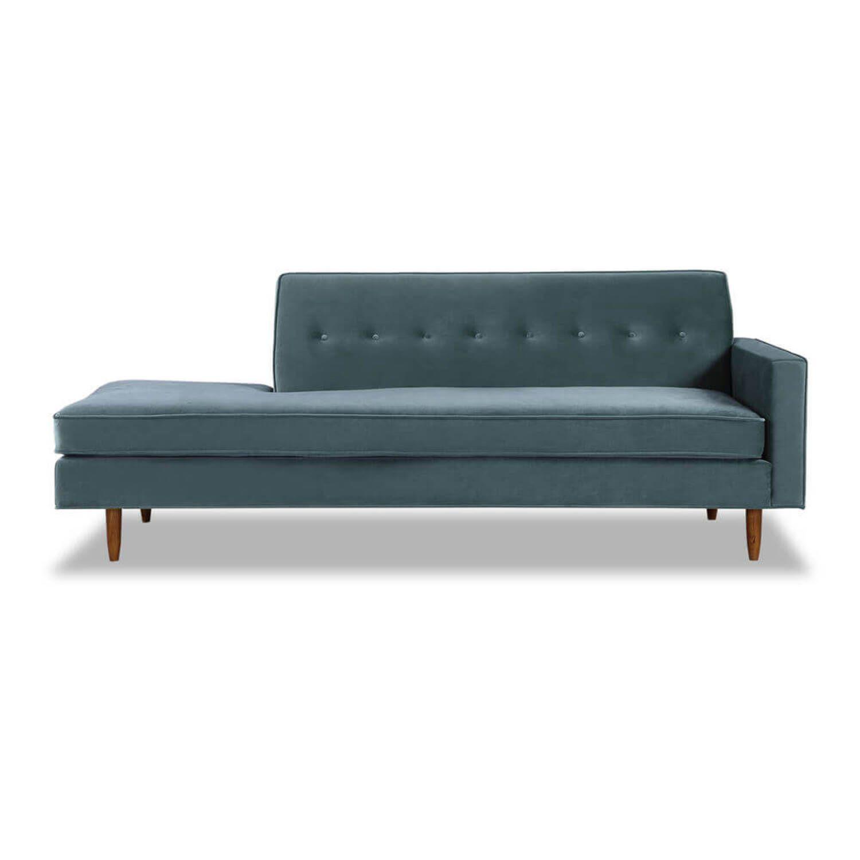 Прямой синий диван тахта Eleanor.