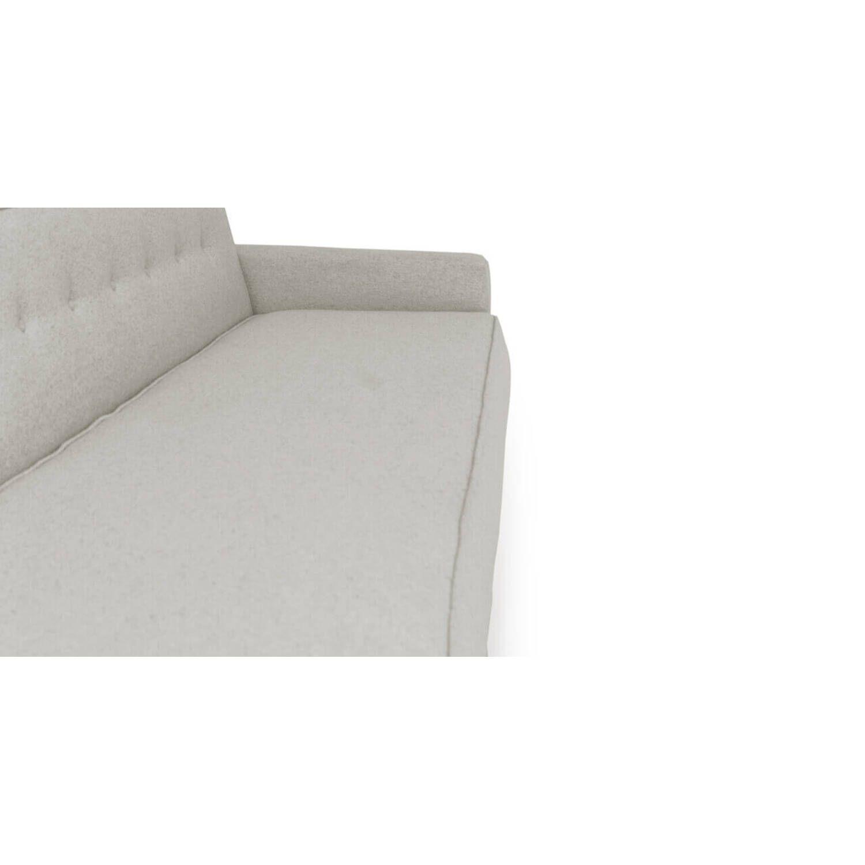 Прямой диван тахта Eleanor, светло-серый купить