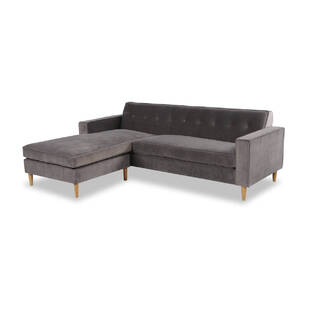 Угловой диван Eleanor, серый