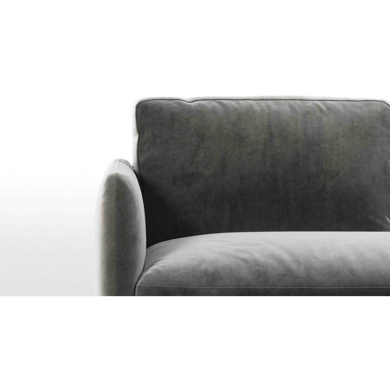 Раскладной серый диван-кровать Fletcher, микровельвет