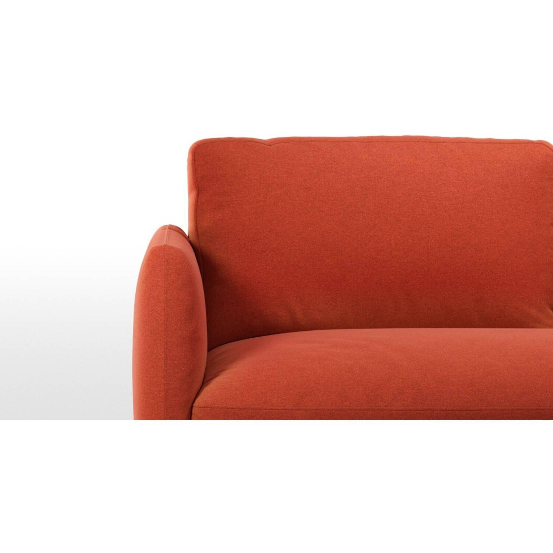 Раскладной оранжевый диван-кровать Fletcher