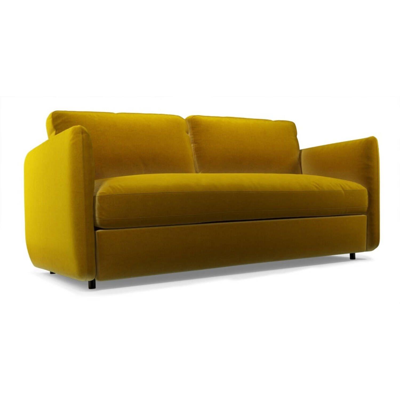 Раскладной горчичный диван-кровать Fletcher