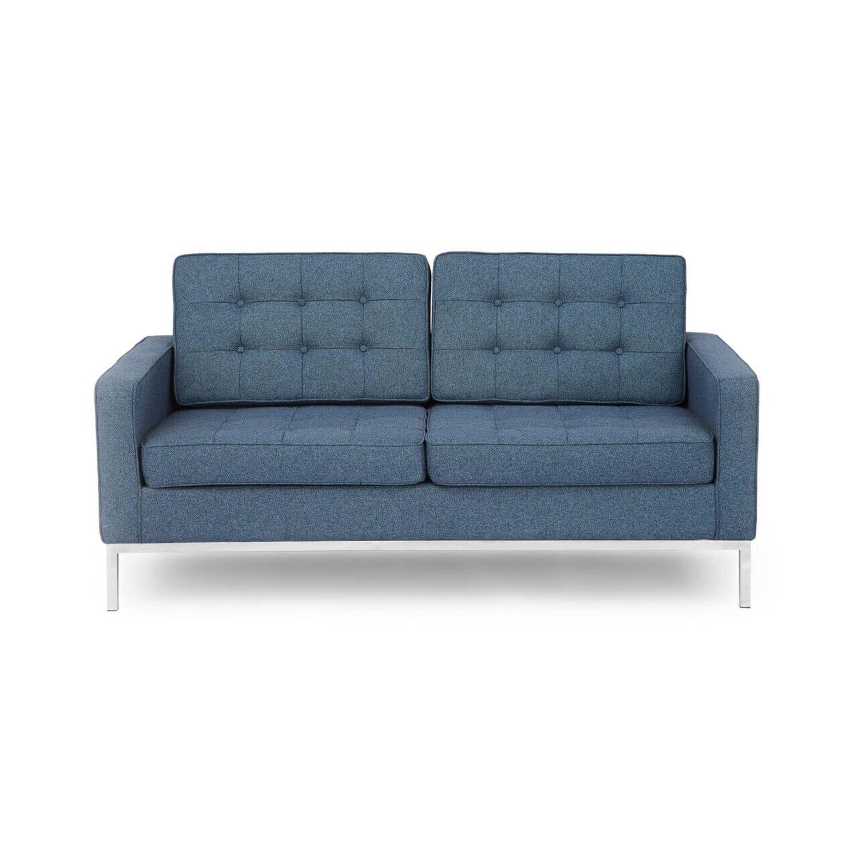 Синий двухместный диван Florence
