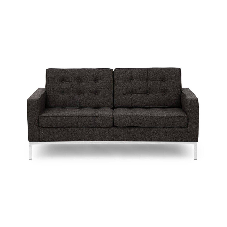 Черно-серый двухместный диван Florence, в стиле Классический модерн с элементами стиля Лофт.