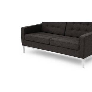 Черно-серый двухместный диван Florence