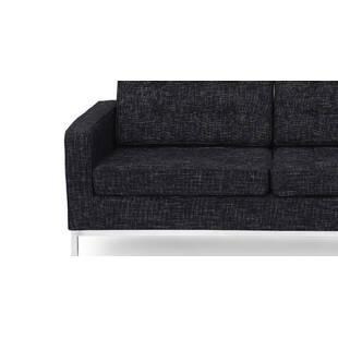 Графитовый двухместный диван Florence