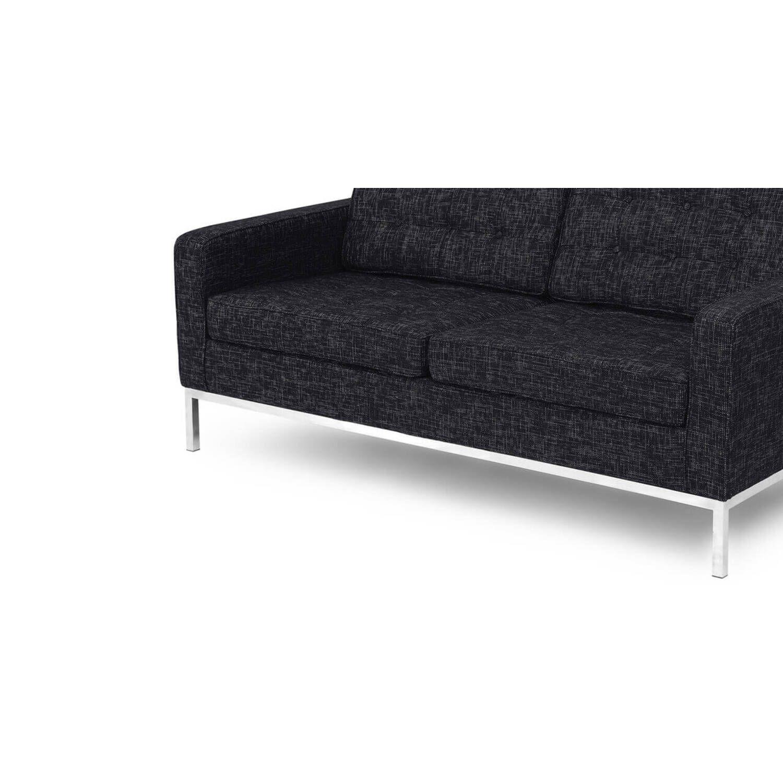 Графитовый двухместный диван Florence, в стиле модерн