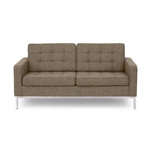 Коричневый двухместный диван Florence