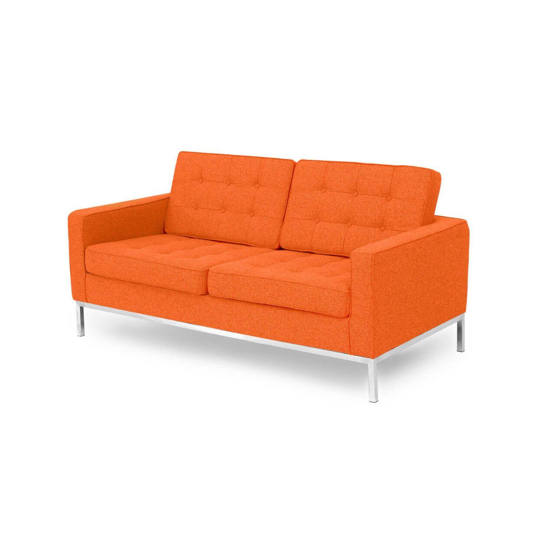 Оранжевый двухместный диван Florence, в стиле модерн